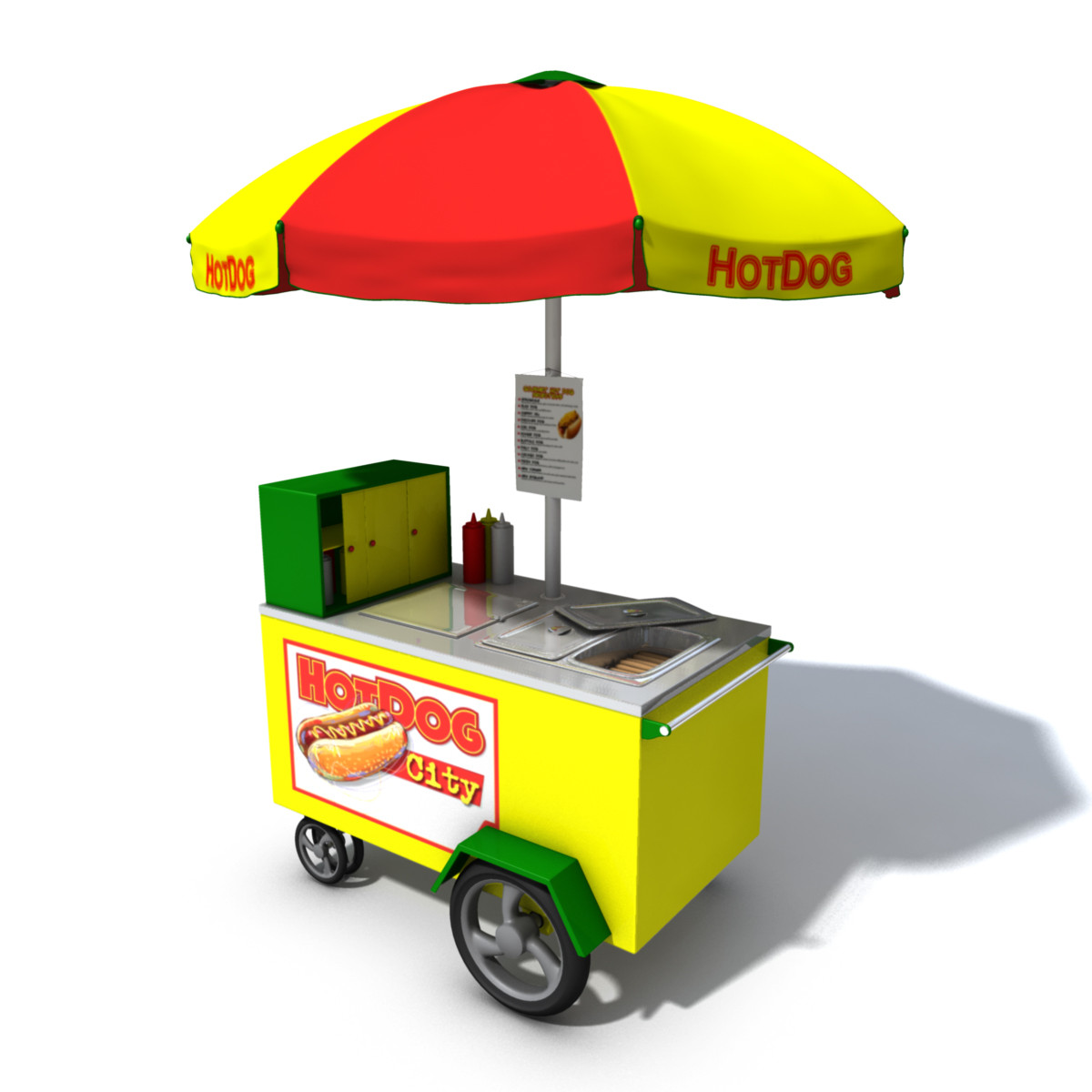 Hot Dog Trailer Concession Model